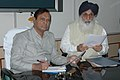 The Chief Minister of Punjab Shri Prakash Singh Badal called on the Union Minister of Shipping. Road Transport and Highways Shri T.R. Baalu, to discuss various road sector projects in the State in New Delhi on May 04,2007.jpg