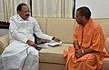 The Chief Minister of Uttar Pradesh, Yogi Adityanath meeting the Union Minister for Urban Development, Housing & Urban Poverty Alleviation and Information & Broadcasting, Shri M. Venkaiah Naidu, in New Delhi (1).jpg