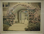 The Coming Out of Rosa by Wallace Nutting, c. 1900-1910, hand-colored photograph - Fitchburg Art Museum - DSC08936.JPG