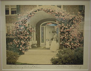 Wallace Nutting - Image: The Coming Out of Rosa by Wallace Nutting, c. 1900 1910, hand colored photograph Fitchburg Art Museum DSC08936