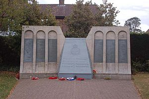 Woodhall Spa - Memorial to the members of 617 Squadron who took part in the Dam Busters raid
