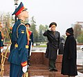 The Defence Minister, Shri A. K. Antony laid wreath at the World War-II Memorial, in Moscow on October 03, 2011.jpg
