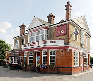 The Fox Inn, Hanwell - Image: The Fox Hanwell W7