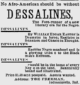 The Freeman - page 8 - Advertisement for Dessalines.png