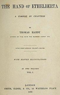 <i>The Hand of Ethelberta</i> novel by Thomas Hardy