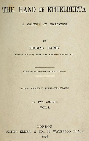 The Hand of Ethelberta - First edition title page