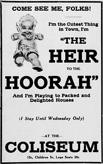 <i>The Heir to the Hoorah</i> 1916 film by William C. deMille