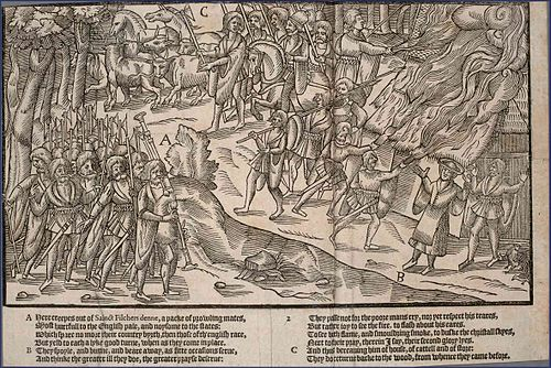 A cattle raid shown in The Image of Irelande (1581) The Image of Irelande - plate02.jpg