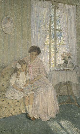 Nasturtiums (E. Phillips Fox) - E. Phillips Fox – The Lesson, c. 1912 in the National Gallery of Victoria