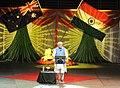 The Prime Minister, Shri Narendra Modi addressing the gathering in the Community Reception, at Allphones Arena, in Sydney, Australia on November 17, 2014.jpg
