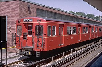 Line 1 Yonge–University - The Gloucester (G-series) trains were chosen to be the system's first rolling stock.