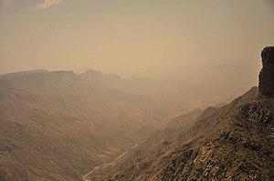 Sarawat Mountains - Sarawat Mountains seen from Habala Valley