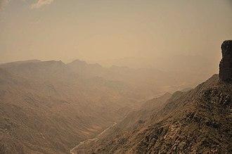 Sarawat Mountains - Ridges of the Sarawat, as seen from Habala Valley in Abha, Saudi Arabia