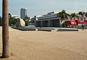 Levitated Mass - The Rock installation in LACMA's backyard