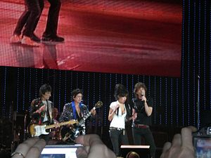 The Rolling Stones with Amy Winehouse at the I...