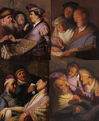 The Senses (Rembrandt) - The four known paintings