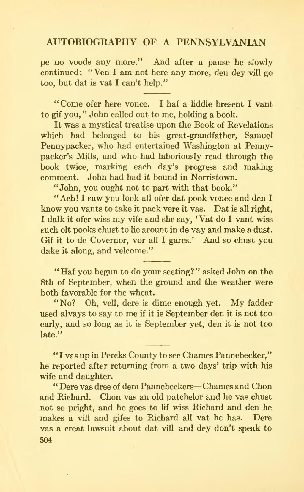 Page:The autobiography of a Pennsylvanian djvu/524