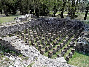 The hypocaust of the Great Baths complex, Ancient Dion (7094483903)