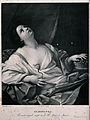 The suicide of Cleopatra; Cleopatra lies on her bed clasping Wellcome V0041562.jpg