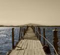 Theodor Lachanas - In the estuary of Achelous Rive - Bridge.png