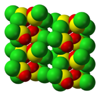 Molecule arrangement in solid SOCl2