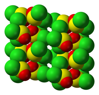 Thionyl chloride - Crystal structure of SOCl2