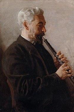 Oboísta (también conocido como Benjamin Sharp). Retrato de 1880 por Thomas Eakins (1844-1916)