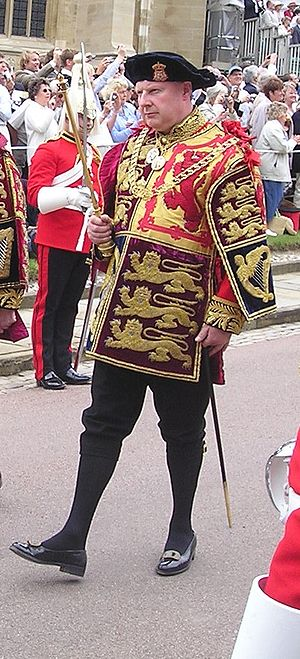 Thomas Woodcock (officer of arms) - Woodcock at Garter Day, Windsor Castle on 19 June 2006 (as Norroy and Ulster) (Photograph by: Philip Allfrey)