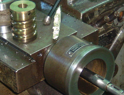 Threading setup helix and bushing American pacemaker lathe