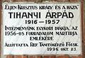 Tihanyi Árpád plaque (Nagykőrös Hősök tere 5).jpg