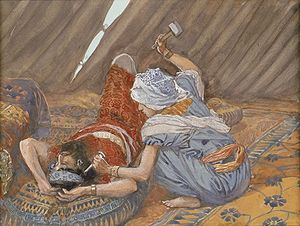 "Sisera - ""Jael Smote Sisera, and Slew Him,"" by James Tissot in the collection of the Jewish Museum (New York)."