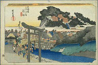 Fujisawa-shuku - Fujisawa-shuku in the 1830s, as depicted by Hiroshige in The Fifty-three Stations of the Tōkaidō