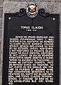 Tomas Claudio (1892-1918) historical marker.jpg