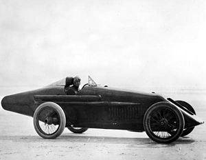 Tommy Milton - Tommy Milton in his race car at the Daytona Beach Road Course in 1920, courtesy of the Florida Photographic Collection