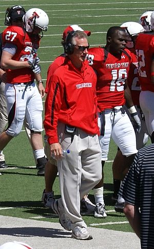 Tommy Tuberville - Tuberville during the 2011 Texas Tech Red Raiders Spring Game