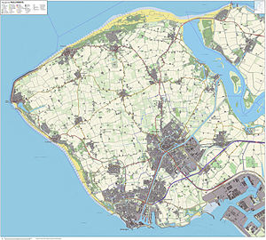 Walcheren - Image: Topografie Walcheren