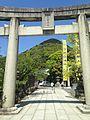 Torii of Miyajidake Shrine and Mount Miyajidake 3.jpg