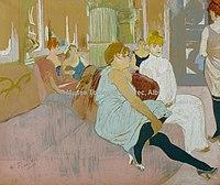 Toulouse-Lautrec - AU SALON DE LA RUE DES MOULINS, 1894, MTL.181.jpg