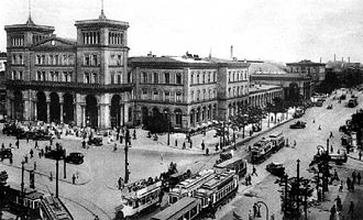 Berlin–Görlitz railway - Görlitz station in 1928