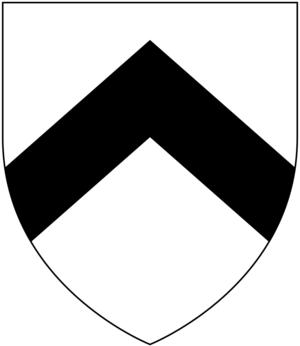 Sir Jonathan Trelawny, 3rd Baronet - Arms of Trelawny: Argent, a chevron sable