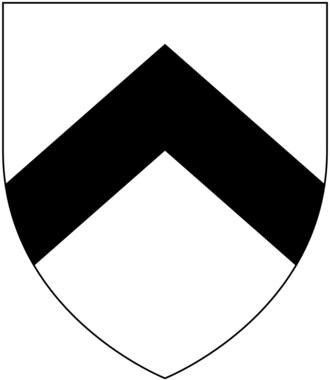 Sir William Trelawny, 6th Baronet - Arms of Trelawny: Argent, a chevron sable