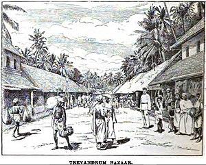 Chala, Thiruvananthapuram - Image: Trevandrum Bazaar (p.102, 1891) Copy