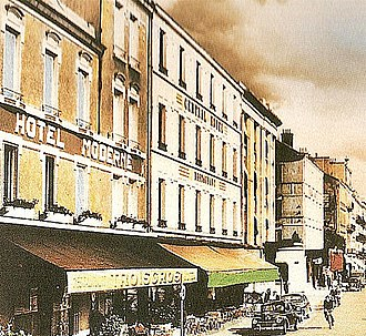 Troisgros family - The hotel-restaurant Troisgros in Roanne at the time of the Hotel Moderne.