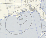 Tropical Storm Brenda analysis 1 Aug 1955.png