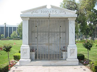 Randy Rhoads - Rhoads' tomb, San Bernardino, California