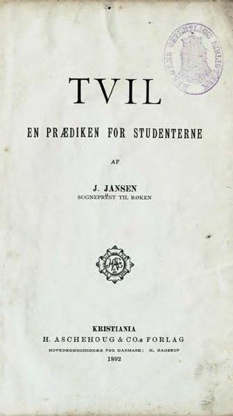 File:Tvil - en prædiken for studenterne.djvu