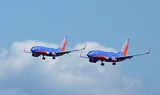 Southwest Airlines fleet - Two Boeing 737-700s of Southwest Airlines at San Francisco International Airport