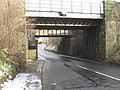 Two adjacent railway bridges across the B6415 at Monktonhall - geograph.org.uk - 1144155.jpg
