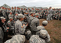 U.S. Army Lt. Gen. Ken Keen, commanding general of Joint Task Force-Haiti, addresses members of the 82nd Airborne Division out of Fort Bragg, N.C., March 6, 2010, in Port-au-Prince, Haiti 100306-N-HX866-004.jpg