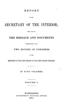 U.S. Department of the Interior Annual Report 1895.djvu